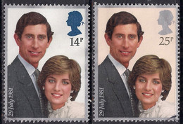 GB 1981 QE2 Set Royal Wedding Charles & Diana Used On Paper ( 1438 ) - 1952-.... (Elizabeth II)