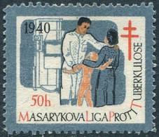 Protectorate Bohemia & Moravia 1940 Anti-TB Charity Revenue Tax Böhmen Und Mähren Čechy A Morava X-ray Röntgen Germany - Other
