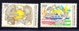 Timbres De COTE D'IVOIRE : Journée Du Timbre 1999, Postes 1010/1, NEUFS **. - Côte D'Ivoire (1960-...)