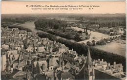 5IB 421 CPA - CHINON - VUE GENERALE PRISE DU CHATEAU - Chinon