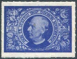 Slovakia 1938 Andrej Hlinka Patriotic Vignette Poster Stamp Reklamemarke Cinderella Slovensko Slowakei Slovaquie - Other
