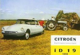 Citroen ID 19 Hydropneumatique   -  1959  -  Ferguson Tracteur   -  Publicite D'Epoque   -  CPM - Passenger Cars