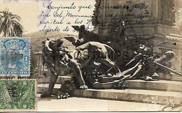 143592 EQUATOR MONUMENTO A LOS HEROES DEL 10 DE AGOSTO 1809 CIRCULATED TO ARGENTINA POSTAL POSTCARD - Equateur