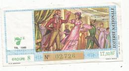 JC , Billet De Loterie Nationale,  7 E, Groupe 8, Septième Tranche 1960, 17,50 NF, Directoire, Scottish - Lottery Tickets
