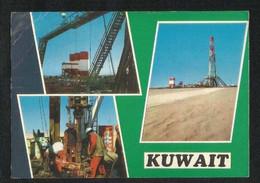 Kuwait Picture Postcard Oil Company 3 Scene View Card - Kuwait