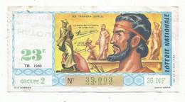 JC , Billet De Loterie Nationale,  23 E, Groupe 2, Vingt-troisième Tranche 1960, 26 NF, Les Tanagra,Gréce - Lottery Tickets