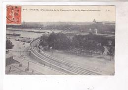 CPA PARIS PASSERELLE ET GARE D AUSTERLITZ En 1908 ! - Métro Parisien, Gares