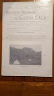 BULLETIN MENSUEL DU CANOE CLUB NOVEMBRE 1930  16 PAGES - 1900 - 1949