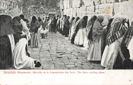 CPA - Israel - Jerusalem, Klagemauer. Muraille De La Lamentation Des Juifs - Israele