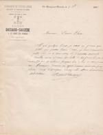 SAINT REMY SUR DUROLLE DASSAUD SAUZEDE COUTELLERIE MARQUE DU PILON A TABAC ANNEE 1885 - Frankreich