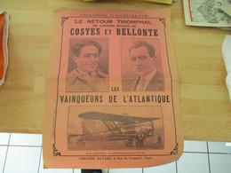 Aviation Costes Et Bellonte Retour Triomphele Chanson - Partitions Musicales Anciennes