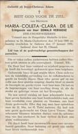 St Maria Oudenhove, Geluwe, 1951, Maria De Lie, Vervaeke - Images Religieuses