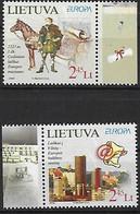EUROPA - Année 2008 - Thème: L'écriture D'une Lettre - LITUANIE - N° Yvert 844/845 - Neufs** - Lietuva - - Lituania
