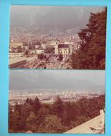 2 PHOTOS--1975----AUTRICHE---INNSBRUCK--vue Depuis La Flamme Olympique Du Tremplin--voir 2 Scans - Schiffe