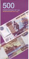 (Billets). Russie. Rossia. Plaquette Explicatif Des Signes Distinctifs Du Billet De 500 R Modification 2010 - Russie
