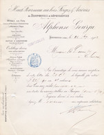 BONPERTUIS MINES DE FER HAUT FOURNEAU AU BOIS FORGES ACIERIES CORROYES FONDU AU CREUSET ALPHONSE GOURJU 1883 - Frankreich