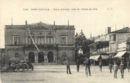 SAINT DIZIER  Place D' Armes Coté De L'Hotel De Ville Voitures  Recto Verso - Saint Dizier