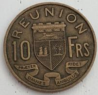 REUNION - 10 FRANCS 1962 - KM# 10 - Réunion