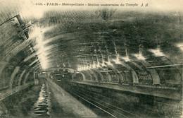 -75-PARIS  -  Metropolitain-  Station Souterraine Du Temple - Métro Parisien, Gares