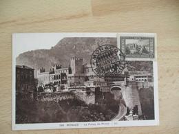 1938 Monaco Le Palais Du Prince 25 C Cm Carte Maximum - Cartoline Maximum