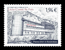 Andorra (FR) 2020 Mih. 869 French Educations In Andorra. Liceu Comte De Foix MNH ** - French Andorra