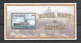 Grenada Carriacou & Petite Martinique 2001 Royal Navy Ships #1 MS MNH (DMS07) - Barcos