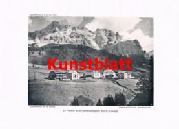 748 Sandtner Dolomiten Fanes Gadertal Enneberg Corvara Südtirol Italien Artikel 1913 !! - Revistas & Periódicos