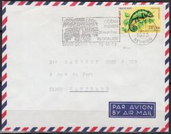 La Réunion  CAMELEON 25f C.F.A Y.et.T. Num 399 SEUL Sur Enveloppe De SAINT DENIS R.P. Le 19 10 1973 Pour 92000 NANTERRE - Marcophilie (Lettres)