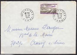 Aéroport Ch De Gaulle  Y.et.T. Num 1787   SEUL Sur Enveloppe De 80 AIRAINES  Le 3 4 1974 Pour 78290 CROISSY Sur SEINE - Marcophilie (Lettres)