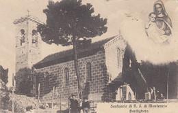 BORDIGHERA-IMPERIA-SANTUARIO N.S DI MONTENERO--CARTOLINA  VIAGGIATA IL 20-7-1914 - Imperia