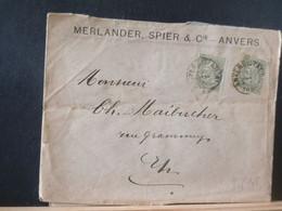 80/445  LETTRE   BELGE  1898 ANVERS - 1893-1900 Schmaler Bart