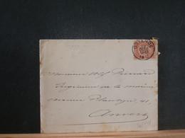 80/446  LETTRE   BELGE  1897   OOSTENDE - 1893-1900 Schmaler Bart