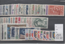 FRANCE ANNEE COMPLETE 1962 XX MNH Neufs - - Francia