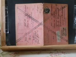 80/448A CARTE RECEPISSE VIGNETTE ABSENT GENT - 1921-1925 Petit Montenez