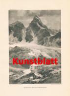 757 Karl Blodig Compton Silvretta Madlenerhaus Berghütte Alpenverein Artikel 1914 !! - Revistas & Periódicos