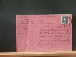 80/449  CARTE RECEPISSE  JUMET - 1921-1925 Petit Montenez