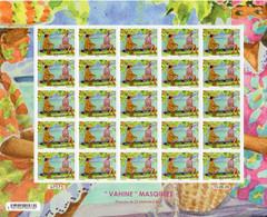 Polynésie Française 2020 - Covid 19, Vahinés Masquées - Feuille De 25 Neufs // Mnh - Unused Stamps