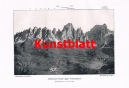 758 Paul Keine Puezgruppe Dolomiten Gröden Bergsteigen Südtirol Italien Artikel 1914 !! - Revistas & Periódicos