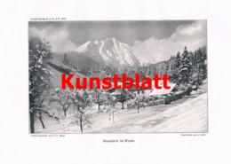 759 Maier Karwendel Wetterstein Bergsteigen Tirol Bayern Zugspitze Artikel 1914 !! - Revistas & Periódicos