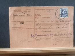 80/453  CARTE RECEPISSE FLEURUS - 1921-1925 Petit Montenez
