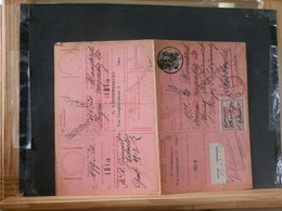 """80/453A  CARTE RECEPISSE GENT VIGNETTE """"REFUSE"""" - 1921-1925 Petit Montenez"""