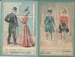 2 CHROMO AU BONHEUR DES DAMES - PARIS 1890 - Ohne Zuordnung