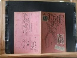 """80/454A  CARTE RECEPISSE GENT VIGNETTE """"SE PRESENTERA AU BUREAU"""" - 1921-1925 Petit Montenez"""