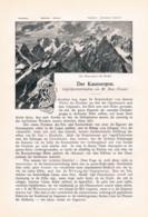 763 Zeno Diemer Kaunergrat Kaunsergrat Ötztal Ötz Kaunertal Tirol Artikel 1898 !! - Revistas & Periódicos