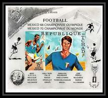 683 Tchad Michel N° 308 B Cote 50 MNH ** Espace (space) MEXICO 68 /70 World Cup Football (Soccer) Non Dentelé Imperf - Verano 1968: México