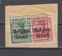 COB 12 Et 14 Oblitération Centrale ROSOUX-CRENWICK  ROOST-KRENWIK - Weltkrieg 1914-18