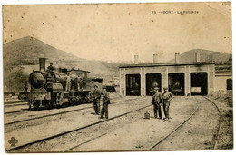 BORT - La Rotonde -Train - Cheminots - Carte Peu Courante -  Voir Scan - Francia