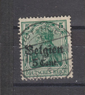 COB 12 Oblitération Centrale HUY - Weltkrieg 1914-18