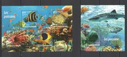 ST2043 2015 NIGER FAUNA FISH & MARINE LIFE LES POISSONS KB+BL MNH - Marine Life