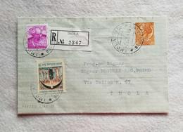 Biglietto Postale Raccomandato Da L. 30 Da Imola Per Città 1964 Con Affrancatura Aggiuntiva - 6. 1946-.. Repubblica